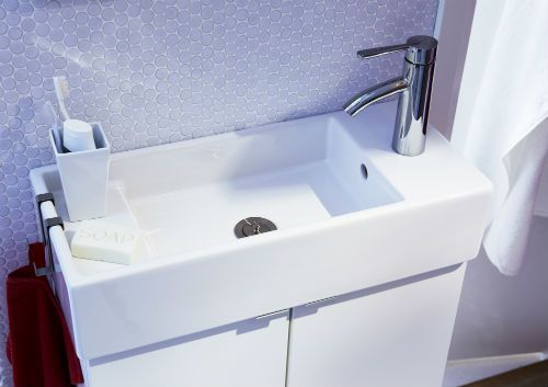 Make Your Bathroom Look And Feel Bigger With A Narrow Sink