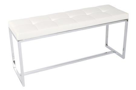 Mia Narrow Bench - White Polyurethane