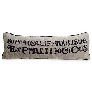 Your WDW Store - Disney Throw Pillow - Mary Poppins Pillow - ''Supercalifragilisticexpialidocious''
