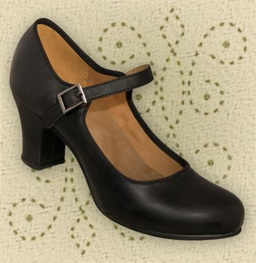 Black Buckled Tap Dancing Shoes