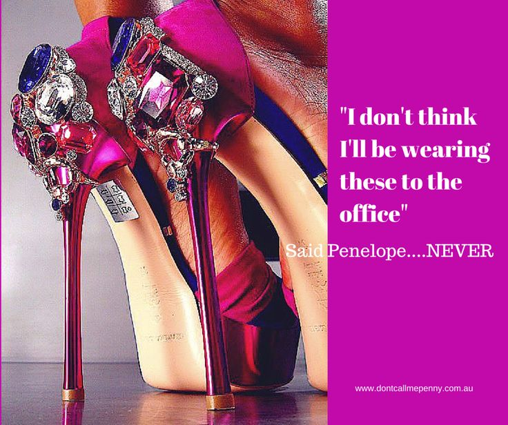 """""""I don't think I'll be wearing these to the office"""" Said Penelope...NEVER! #shoes #highheels #fashion #style"""