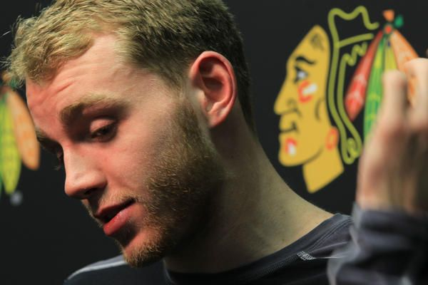 patrick kane 2013 | Patrick Kane answers questions after last season's playoffs. (Phil ...