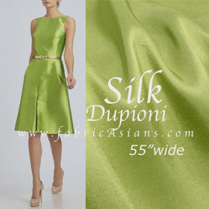 Chartreuses Green bridesmaid dress. Dupioni Silk Fabric by fabricAsians