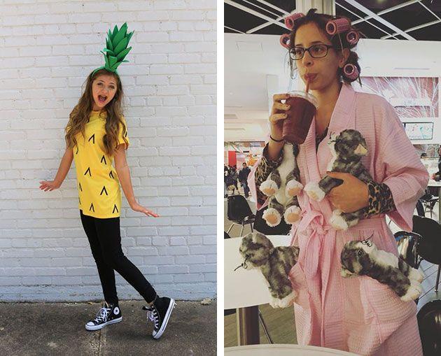 Девушка ебет себя ананасом