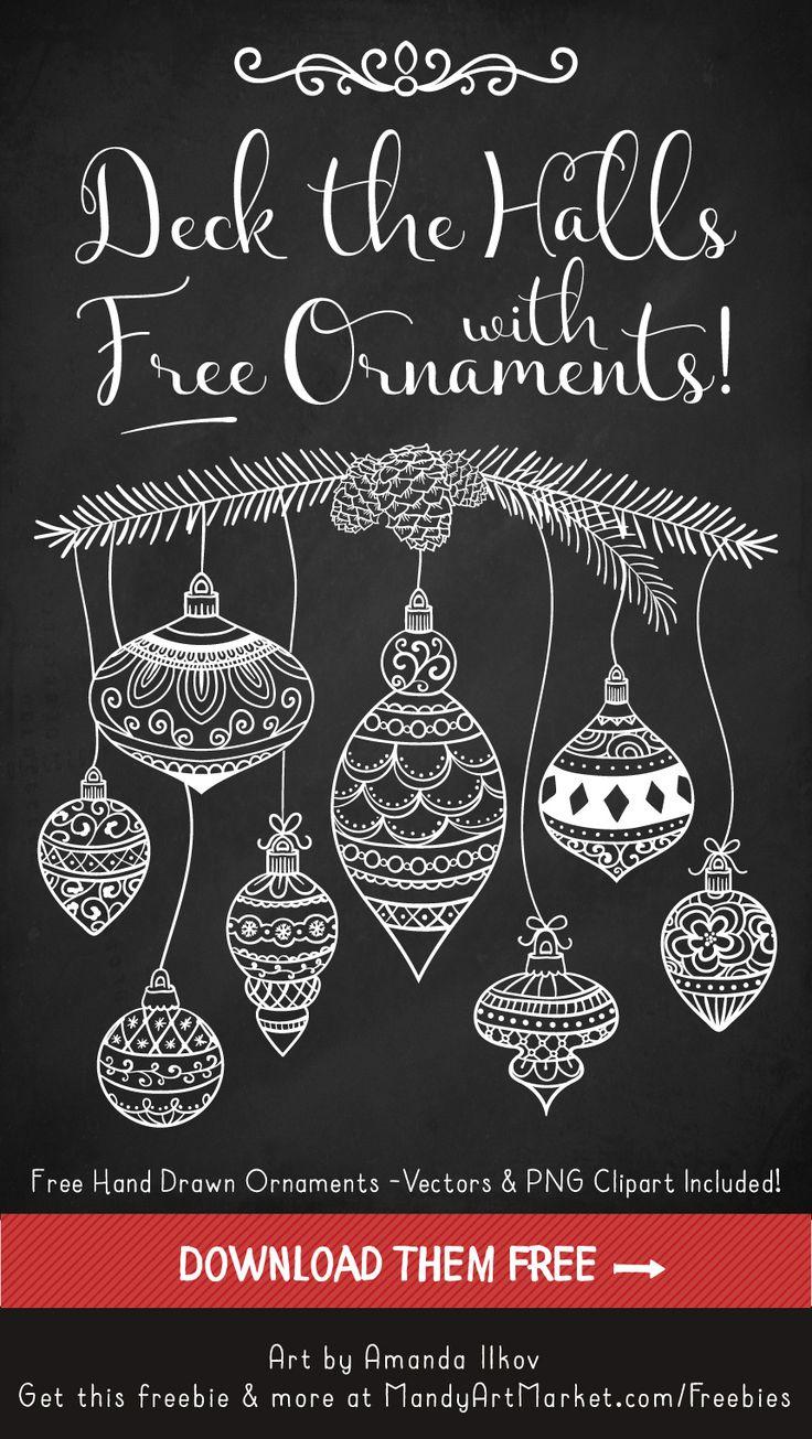 Free Christmas Ornament Vectors 1