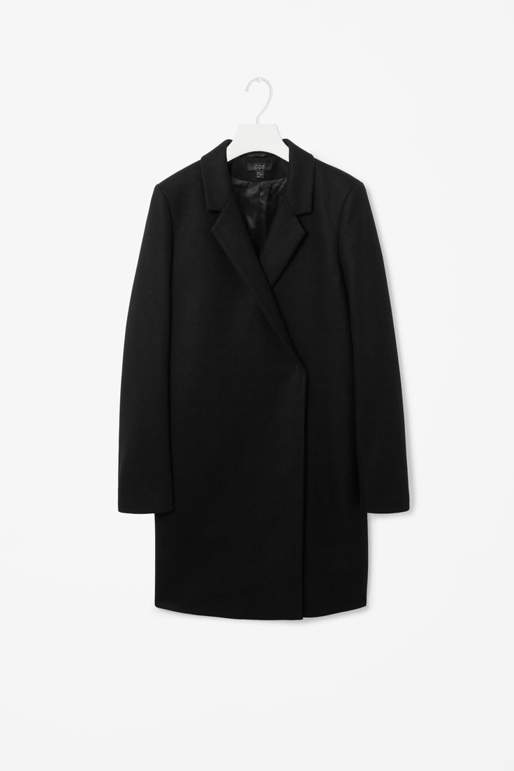 Crossover wool coat