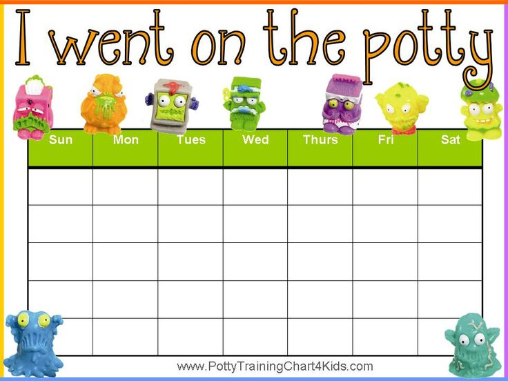 """I went on the potty"" reward chart. Click here to download 40 printable potty training charts for free."
