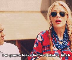 Why i walk out in the middle of most conversations #cougar town quotes -  before I stab a #bitch