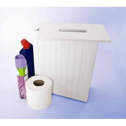 Shaker Style Slimline Bathroom Store-Price £29.99 Designed to contain cleaning bottles, toilet rolls & other accessories. #Bathroom, #Bathroom Storage Units, #Accessories