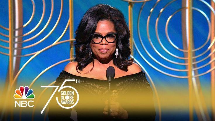 Oprah Winfrey Receives Cecil B. de Mille Award at the 2018 Golden Globes - YouTube