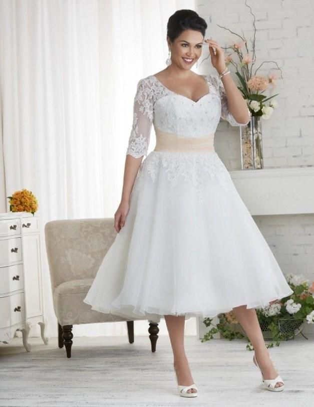 White plus size wedding dress - http://pluslook.eu/dresses/white-plus-size-wedding-dress.html. #dress #woman #plussize #dresses