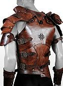 Armure de luxe en cuir de guerrier celte beige - maskworld.fr