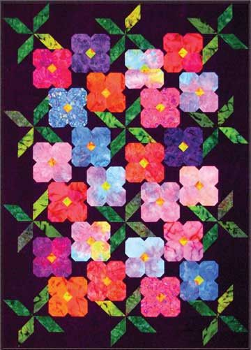 Susan Perry brings you an addictive new quilt! Easy techniques and clear instructions make assembly a snap. Make it with your favorite fat quarter collections or packets of Sweet Sixteens™. Or go scra