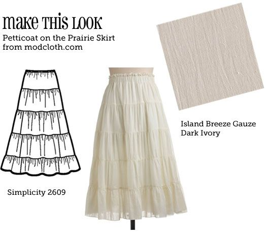 DIY prairie skirt