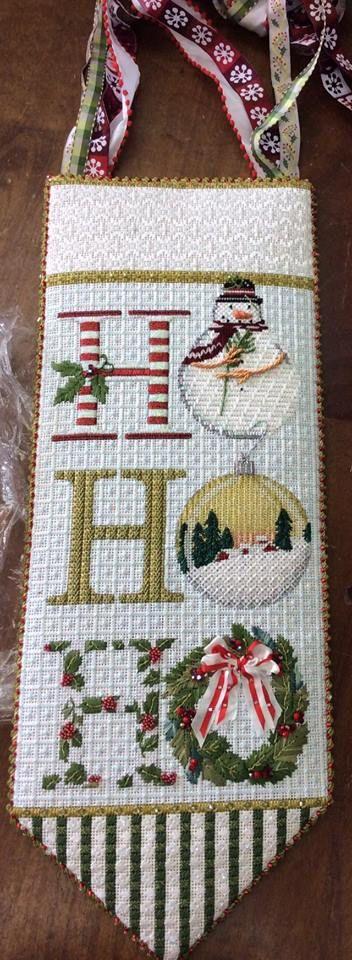 melissa shirley ho-ho-ho needlepoint banner
