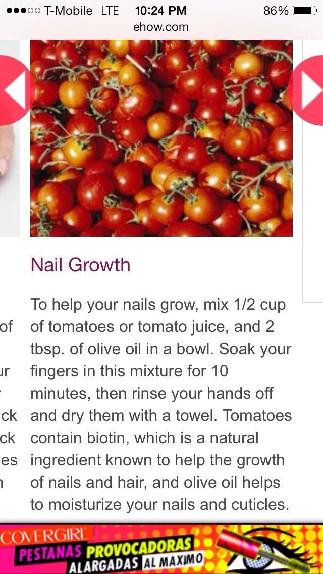 Grow Nails Fast With Tomatoes And Olive Oil