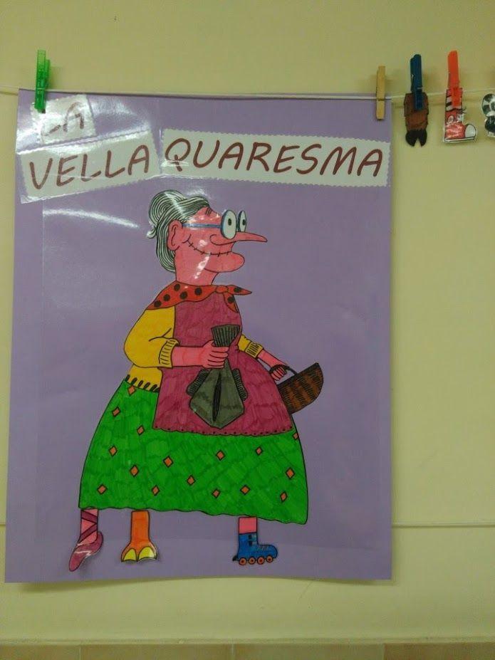 LA VELLA QUARESMA - Material: paper, cartolina, colors, tisores - Nivell: Menjador P4 2015/16 Escola Pia Balmes