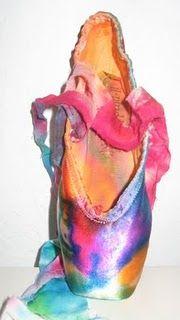 Pointe Shoes: En Points, Rainbows Colour, Ballet Slippers, Color Points Shoes, Beautiful Ballet, Paintings Points Shoes, Rainbows Points, Decor Points, Dance