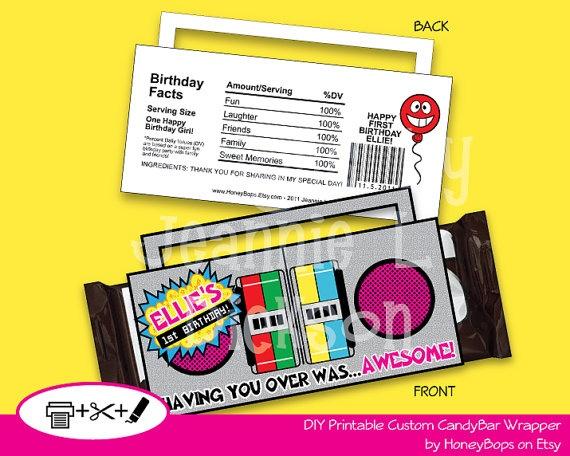 Birthday Candy Bar Wrapper