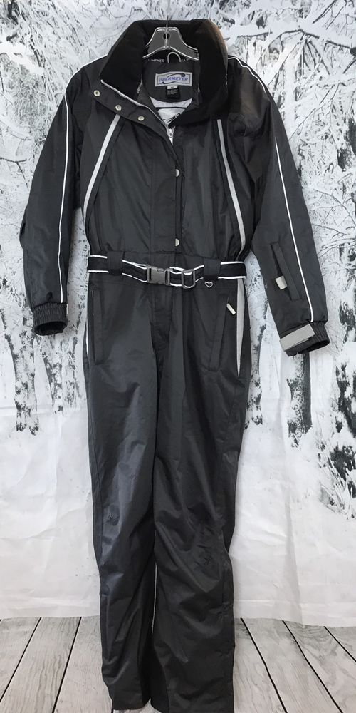 Obermeyer Ladies Gray Jacket Pants In One Piece Snow Ski Suit Snowboard  Size 12  3ac77a6d0
