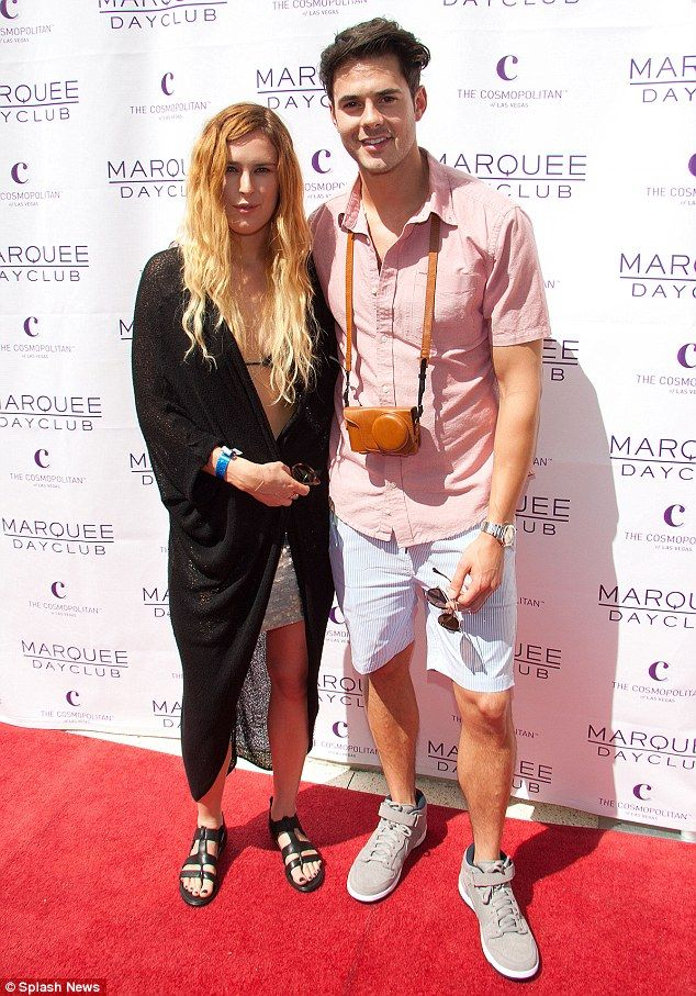 Rumer Willis mismatched outfit at Marquee Dayclub opening weekend celebration