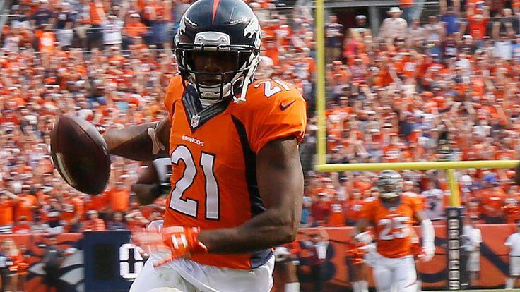 Broncos Aqib Talib intercepts Joe Flacco's Pass for TD | Ravens vs. Bron...