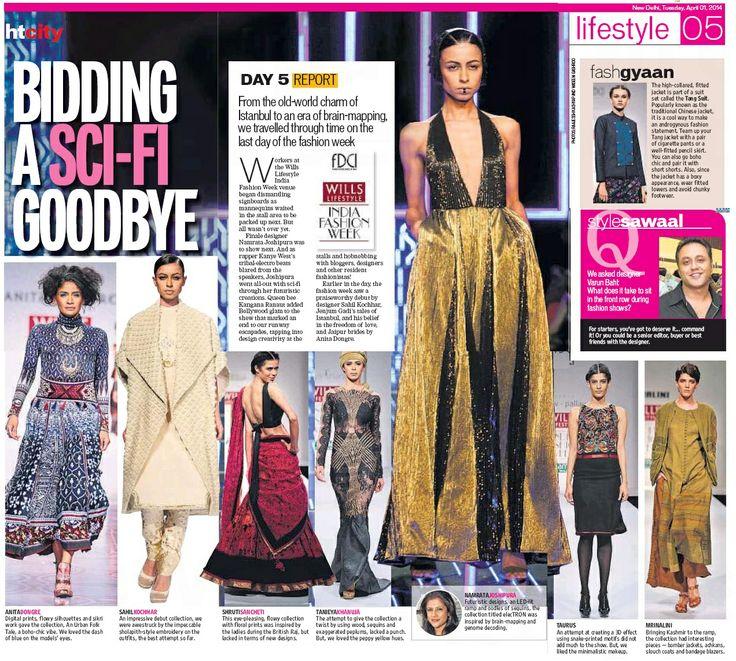 Designer Tanieya Khanuja_HT City Coverage_1st April'14