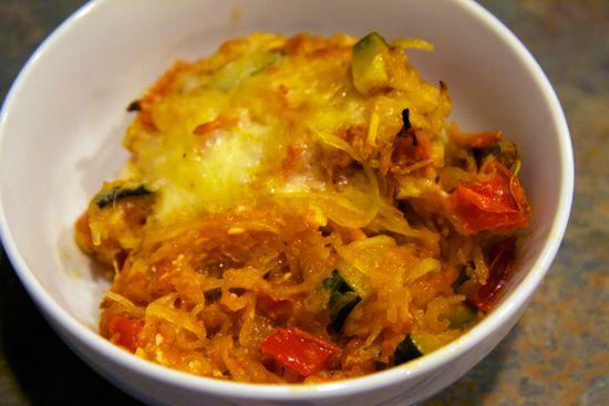 """Spaghetti squash """"pasta"""" bake ... This was delicious!"""