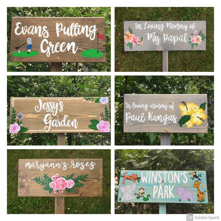 Garden Sign Personalized, Outdoor Decor, Wood Outdoor Sign
