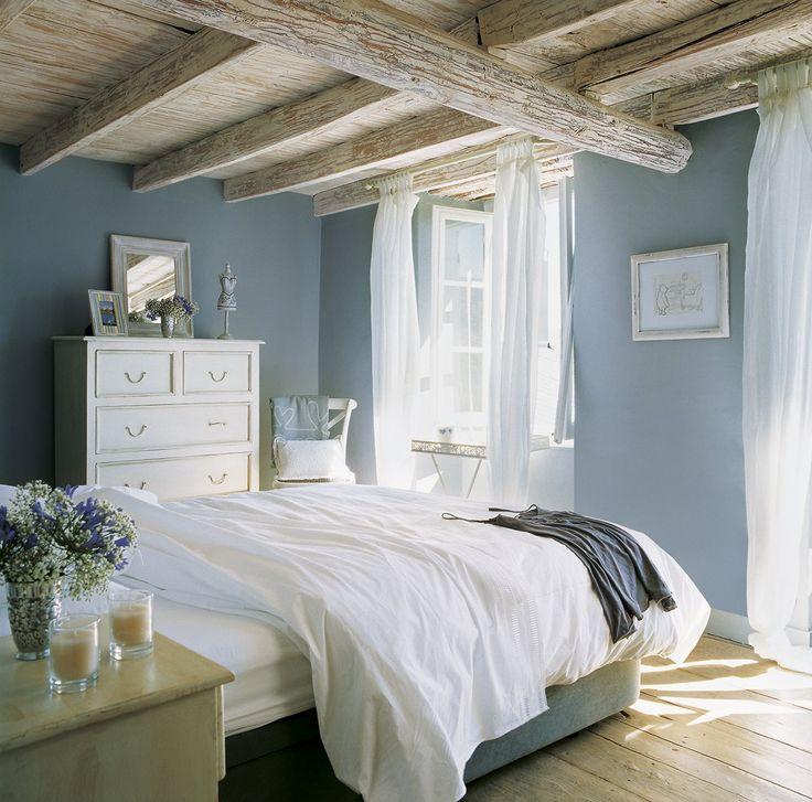 Dormitorio tono azul
