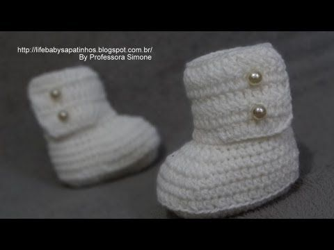 Passo a passo vestido em Crochê para Bebê - Babados - parte 1 - Professora Simone - YouTube