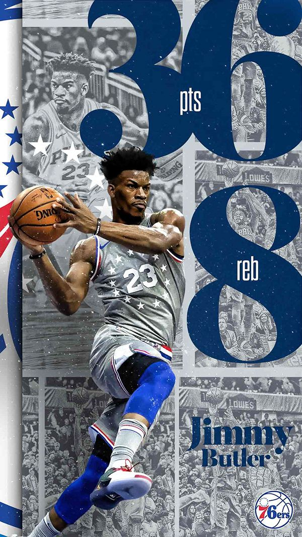 76ers Art Direction Challenge Minimal Toolkit On Behance Sport Poster Design Sports Graphic Design Basketball Design