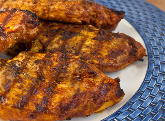 This is an easy and incredibly flavorful way to prepare boneless skinless chicken breasts. I can't claim it's authentic, but the spices -- an aromatic blend of cinnamon, cumin, turmeric, ginger, paprika and coriander  -- make it taste decidedly Moroccan, and it also goes wonderfully with couscous. You might think it sounds too exotic-tasting