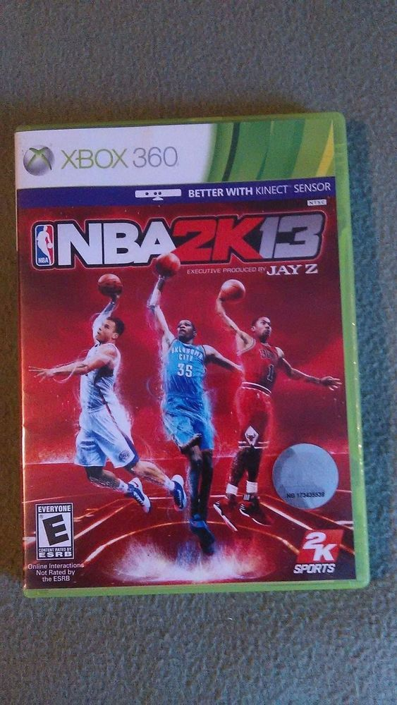 NBA 2K13 Microsoft Xbox 360, 2012 Video Game Manual Jay Z Fast Shipping