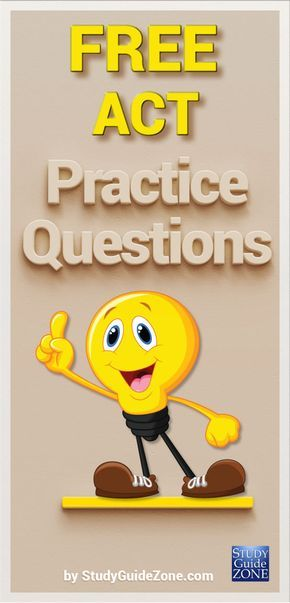 Get prepared today with ACT practice test questions. A free ACT study guide with study tips and sample questions. #acttest #actprep