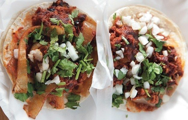 Vegan Tacos | Two of these bean and soyrizo tacos will deliver a whopping 31g/protein. Fuel up.