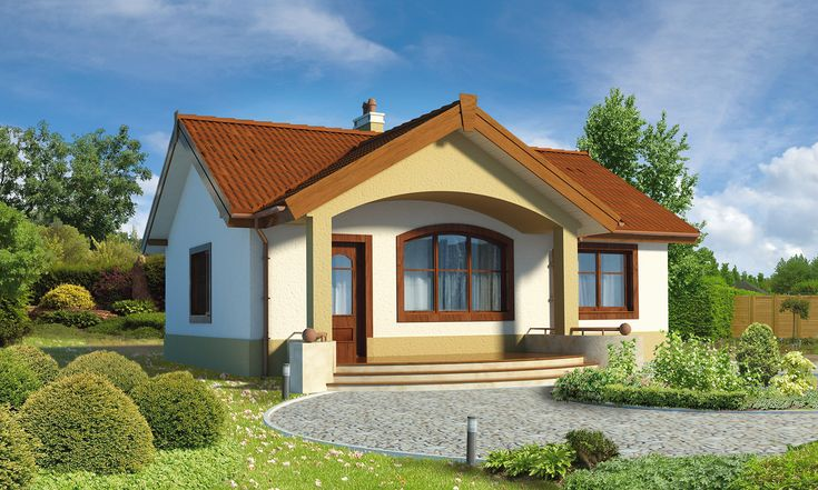 """""""Filigranowy"""" Murator C272 - będzie doskonałym domem dla niedużej rodziny, a zapewne doskonały dla seniorów."""