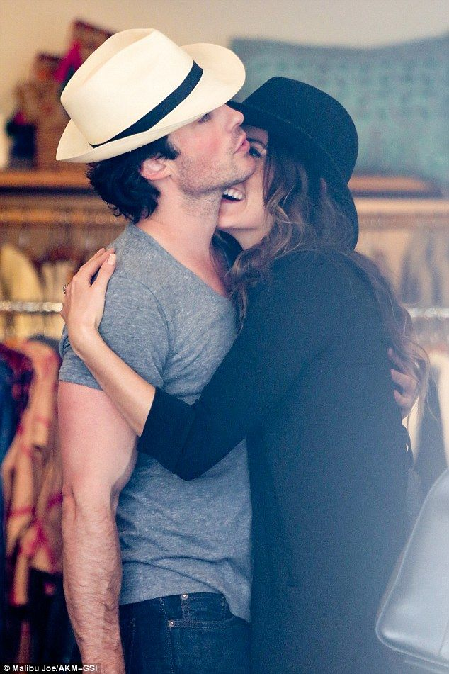 Inseparable: Ian Somerhalder and Nikki Reed put on a PDA as they shopped in Venice on Monday