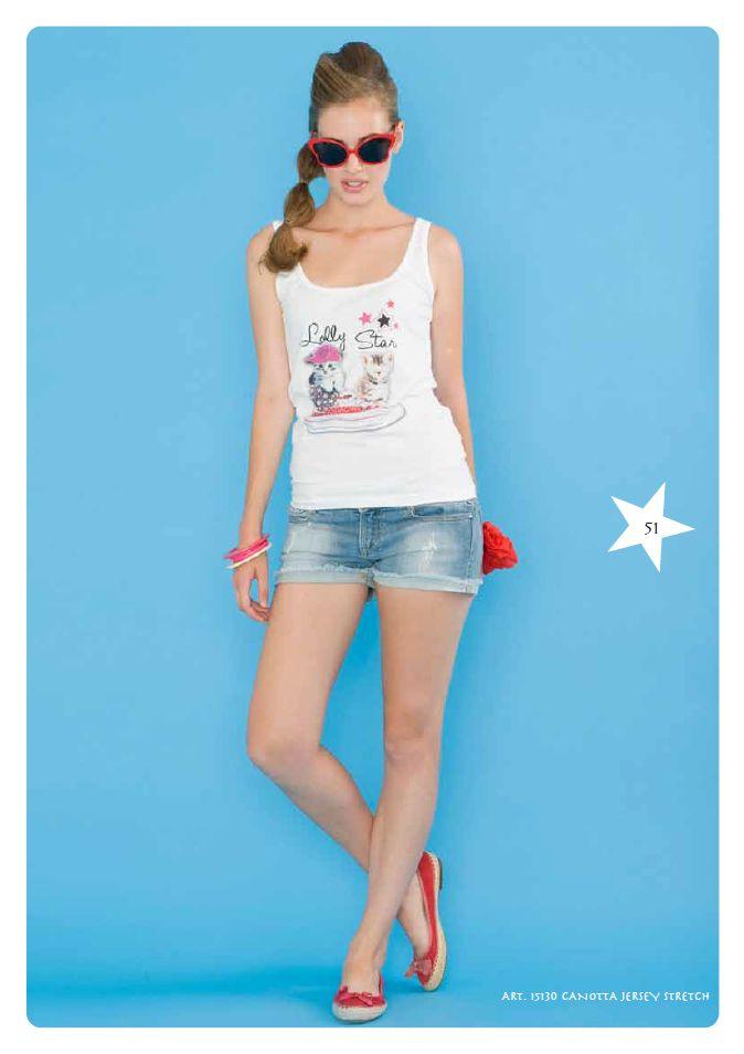 #Canottiera Jersey Stretch #LollyStar - Scopri tutta la collezione #SpringSummer qui --> http://www.lollystar.it/
