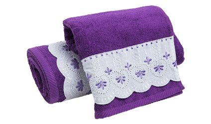 Juego Toallas Jacinta Lila. Visítanos en tuakiti.com #toallas #towels #juegotoallas #towelset #decoracion #homedecor #hogar #home #baño #bathroom #tuakiti