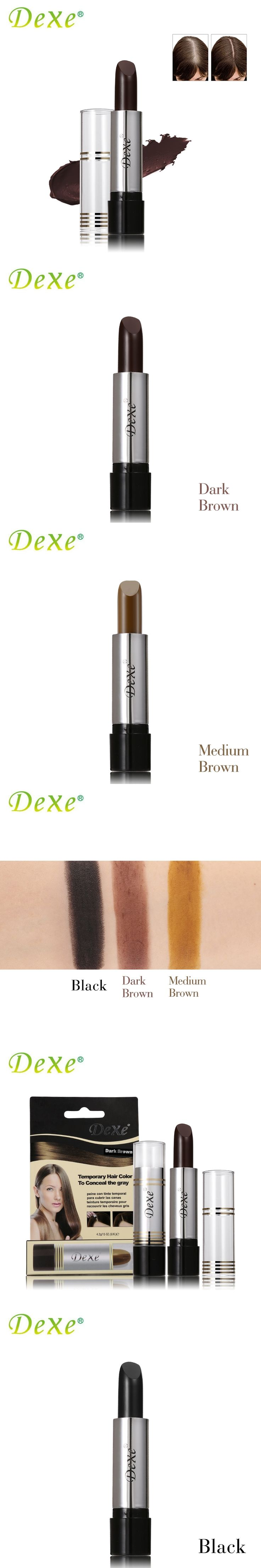 DEXE Temporary Hair Dye Hair Color Stick Hair Coloring Cream Products To Conceal The Gray Root Cover Up Black Dark/Medium Brown