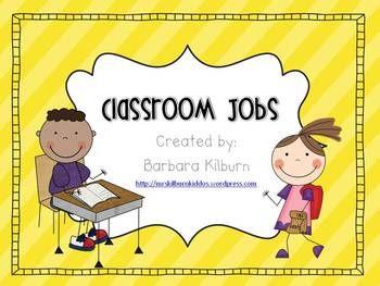 Classroom Jobs {FREE} - Barbara Kilburn - TeachersPayTeachers.com