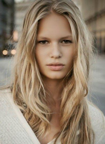 Soft creamy blonde.