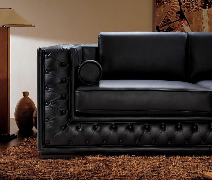 Best 25 White Leather Sectionals Ideas On Pinterest: 25+ Best Ideas About Black Leather Sofas On Pinterest