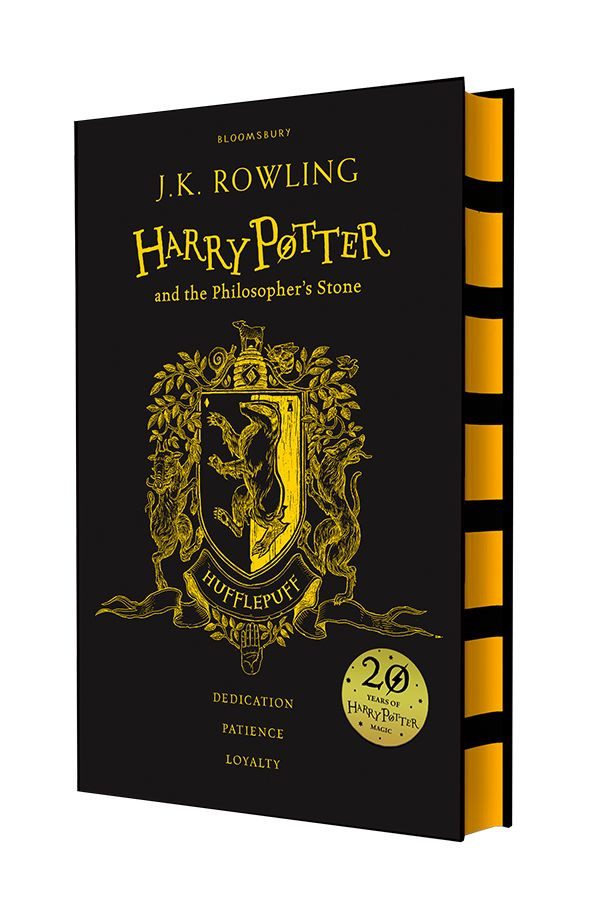 Harry Potter | House Editions: Hufflepuff hardback. Exclusive Gryffindor house edition to celebrate the 20th Anniversary of the first publication of Harry Potter and the Philosopher's Stone.