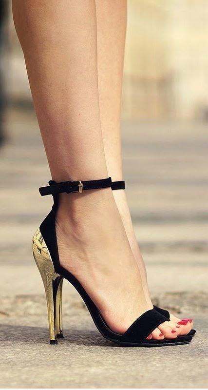Ankle Strap Velvet #heels