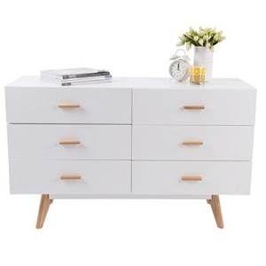 Porta 6 Drawer Cabinet - White