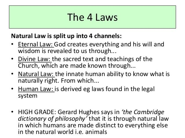 natural law examples