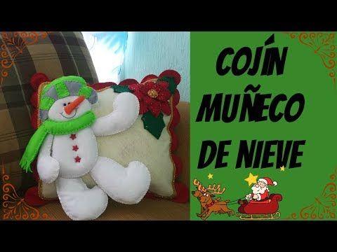 (230) ¡Cojín navideño MUÑECO DE NIEVE! - YouTube