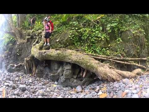 """Tahiti Hike called """"Te Pari"""", en country side which is the most remoted area of Tahiti Iti. It's a 2 days hike. A medium to advance hike ! :)"""